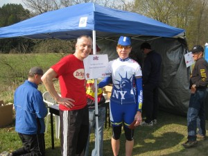 Ad Stabel of CNYC with NYS Champion Margaret Thompson
